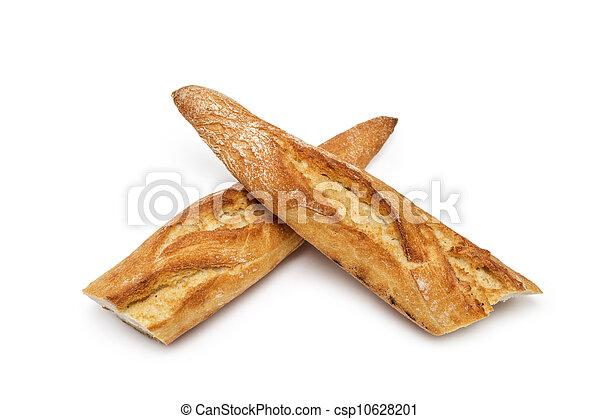 baguette bread folded cross - csp10628201
