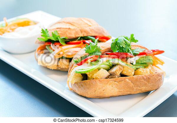 baguette sandwich - csp17324599