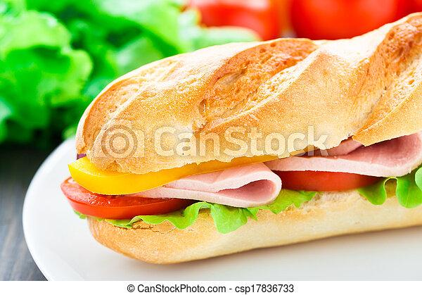 Baguette sandwich - csp17836733