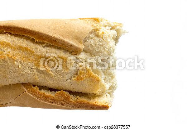 baguette, wizerunek, skorupiasty, do góry szczelnie - csp28377557