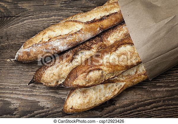Baguettes bread - csp12923426