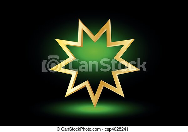 El símbolo Bahai, - csp40282411