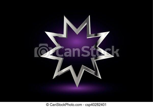 El símbolo Bahai, - csp40282401