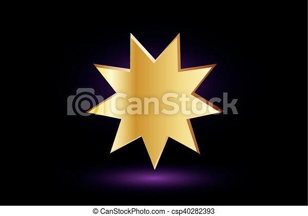 El símbolo Bahai, - csp40282393