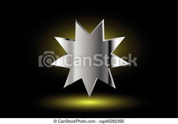 El símbolo Bahai, - csp40282395