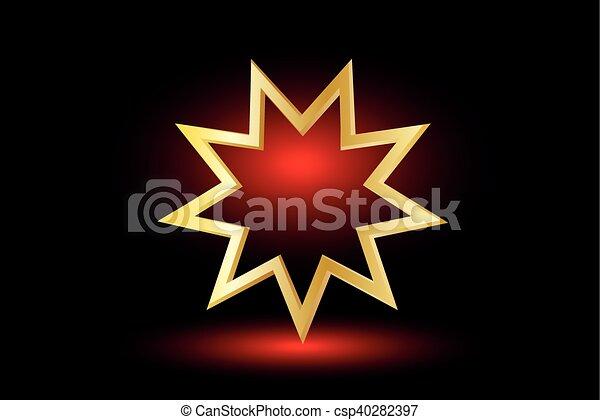 El símbolo Bahai, - csp40282397