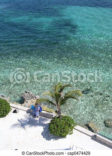 bahama, brzeg, 2 - csp0474429