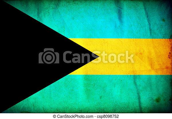 Basadas de Bahamas grunge - csp8098752