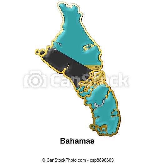 Una insignia de metal de las Bahamas - csp8896663
