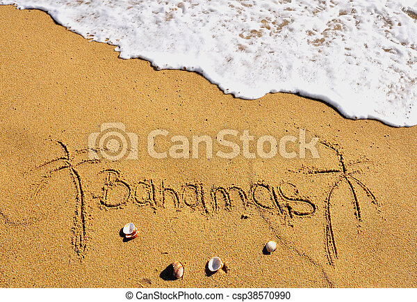 Señal de playa de Bahamas - csp38570990