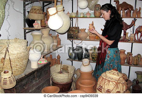 Bahla Pottery Market in Oman - csp9439339
