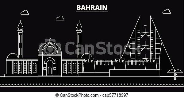 74e7d093a9b2 Bahrain silhouette skyline. bahrain vector city