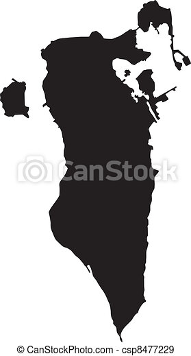 bahrain, térkép, vektor, ábra - csp8477229