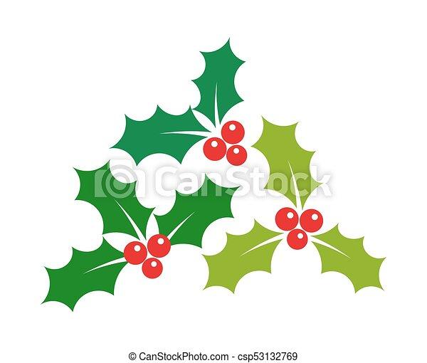 Baies Houx Gui Noel Icones Gui Illustration Baies Houx Noel