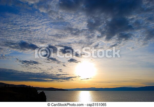 baikal., see, sunset. - csp3151065
