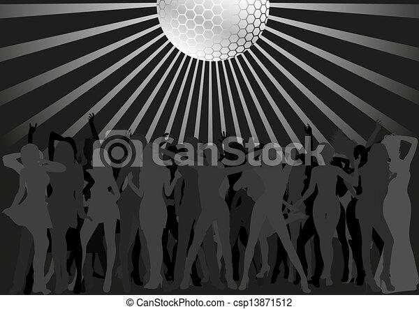 Gente bailando - csp13871512