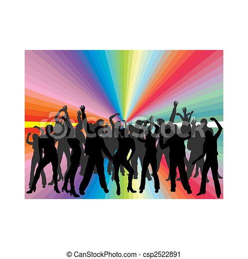 Gente bailando - csp2522891