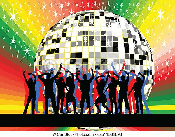 Gente bailando - csp11532893