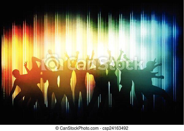 Gente bailando - csp24163492