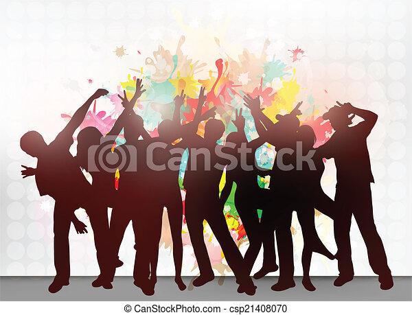 Gente bailando - csp21408070