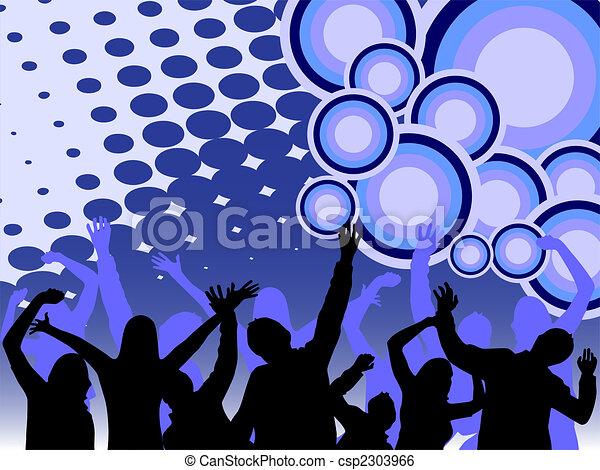 bailando, gente - csp2303966