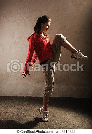 bailarín, breakdance - csp8510822