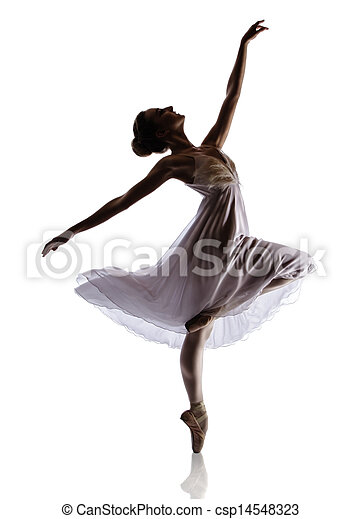 Mujer bailarina de ballet - csp14548323