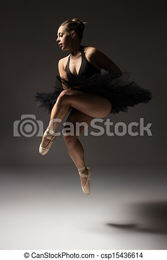 bailarín de ballet clásico, hembra - csp15436614