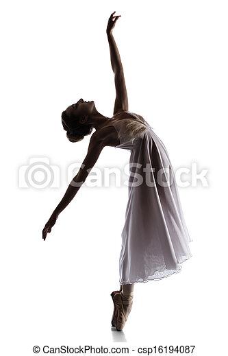 bailarín de ballet clásico, hembra - csp16194087