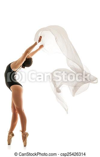 Mujer bailarina silueta - csp25426314