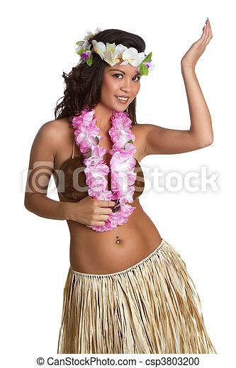 Bailarina hawaiana de hula - csp3803200
