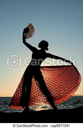 España, bailarina española - csp5971341