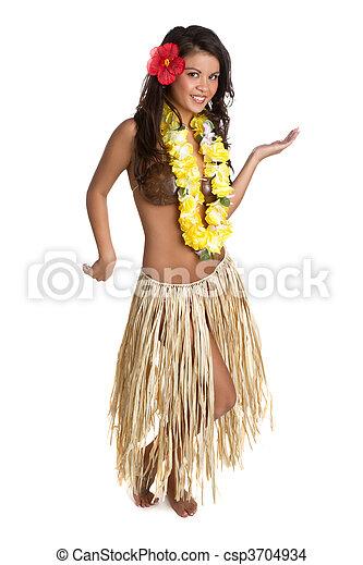 Bailarina de hula - csp3704934