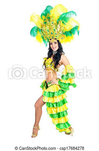 Bailarina de carnaval - csp17684278