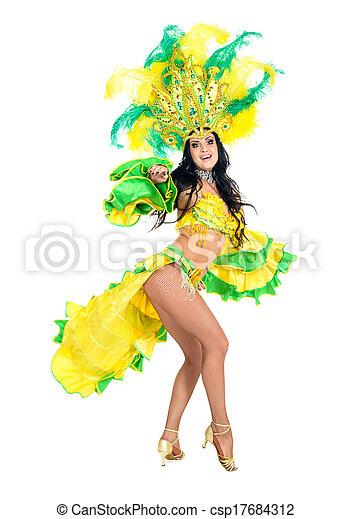 Bailarina de carnaval - csp17684312