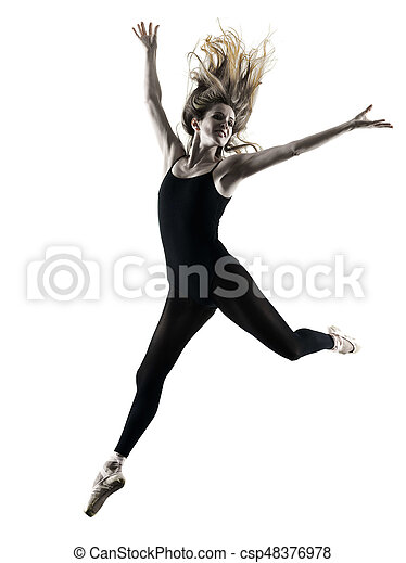 Bailarina bailarina bailarina aislada silueta - csp48376978