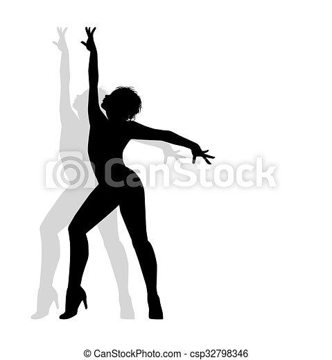 Silueta de bailarina - csp32798346