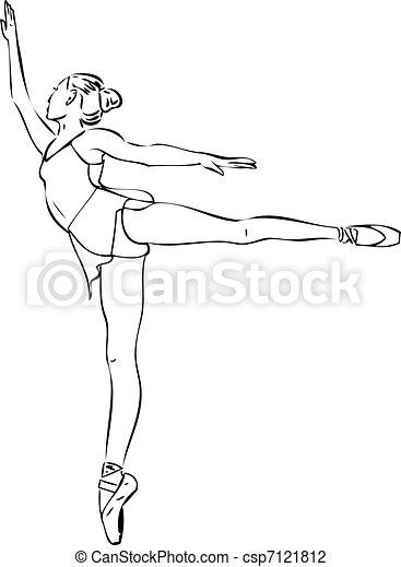 Ballerina en posición arabesca en el - csp7121812