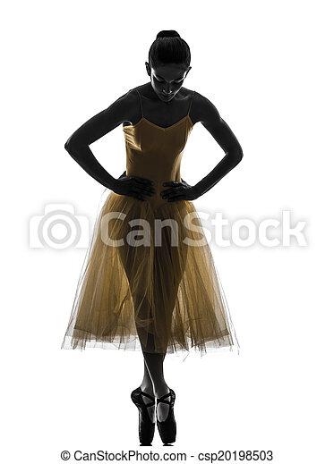 Mujer bailarina bailarina bailando silueta - csp20198503