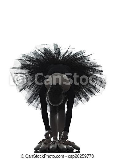 Mujer bailarina bailarina bailarina bailarina bailando silueta - csp26259778