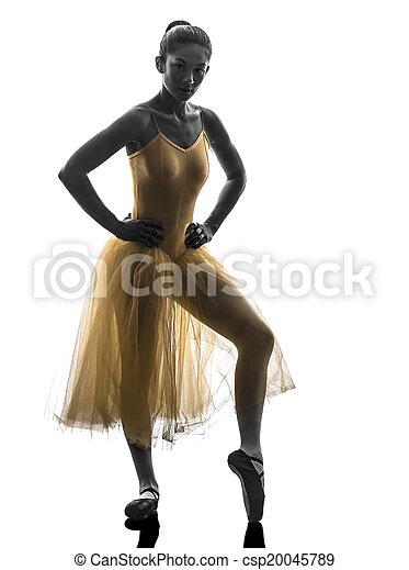 Mujer bailarina bailarina bailando silueta - csp20045789