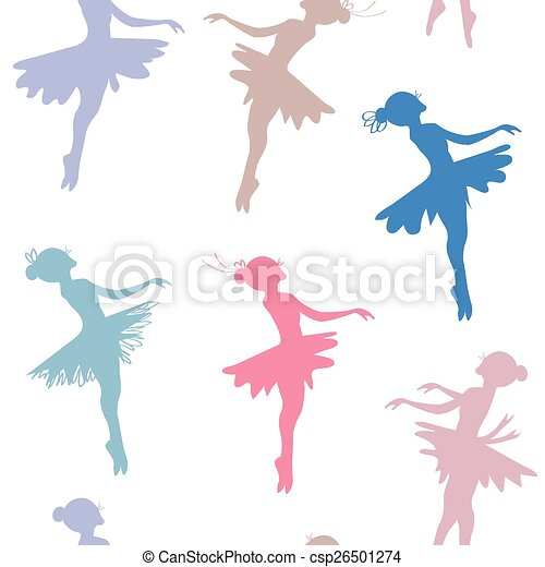 bailarina colorido teste padrão pastel seamless