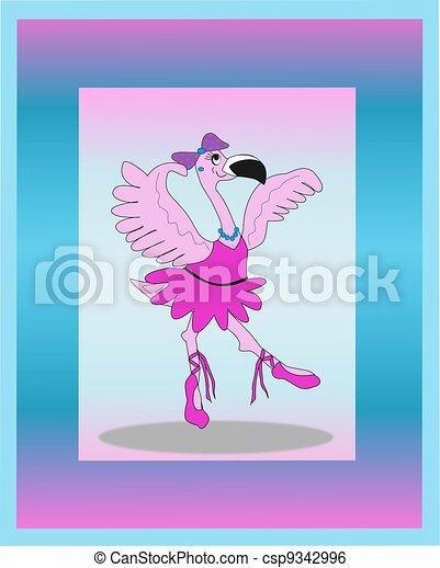bailarina, flamenco, bailando - csp9342996