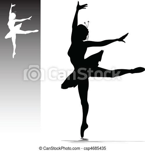 Ilustración de bailarina - csp4685435