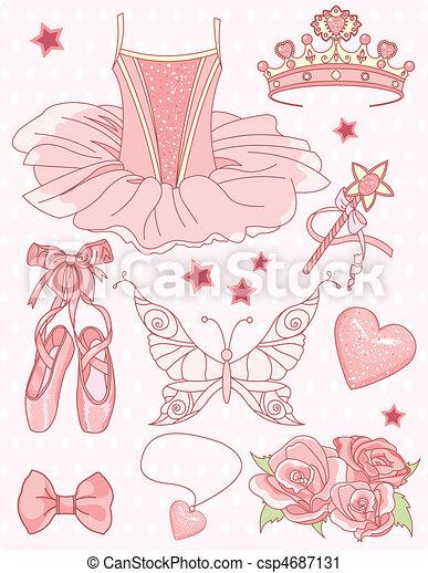 bailarina, jogo, princesa - csp4687131