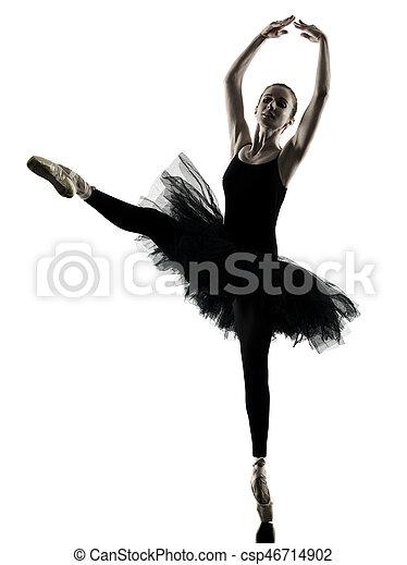 Bailarina bailarina bailarina aislada silueta - csp46714902