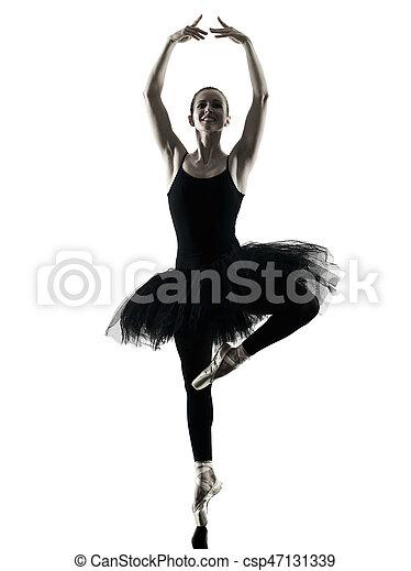 Bailarina bailarina bailarina aislada silueta - csp47131339
