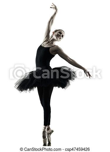 Bailarina bailarina bailarina aislada silueta - csp47459426