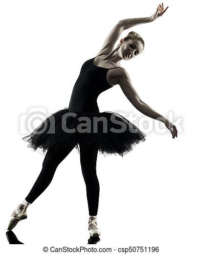Bailarina bailarina bailarina aislada silueta - csp50751196