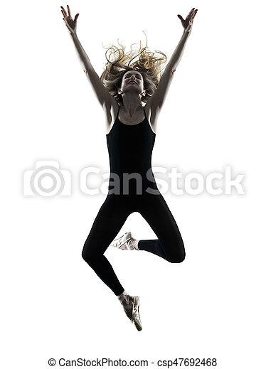 Bailarina bailarina bailarina aislada silueta - csp47692468
